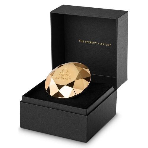 Zlatý luxusní vibrátor Twenty One Diamond
