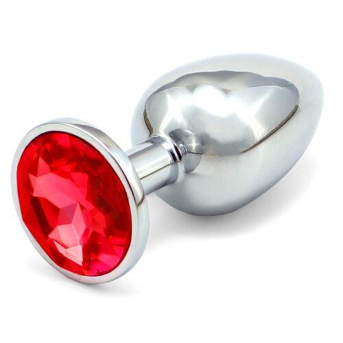 Větší anální kolíček s červeným krystalem