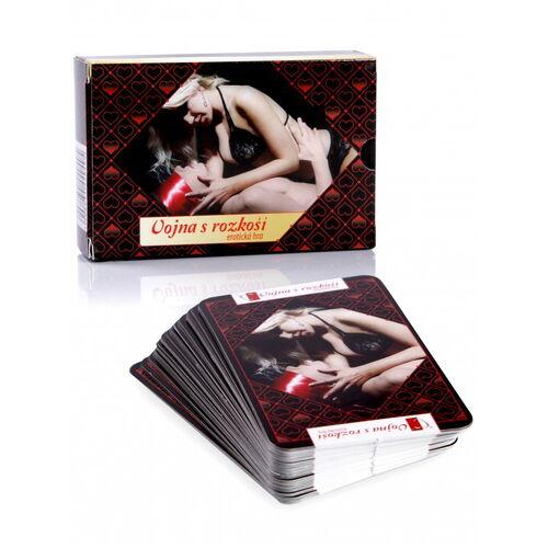 Erotická karetní hra Vojna s rozkoší