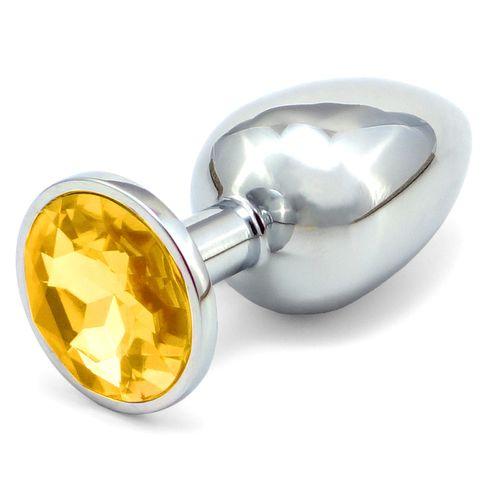 Větší anální kolík - zlatý šperk