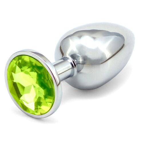 Větší anální kolík - světle zelený šperk