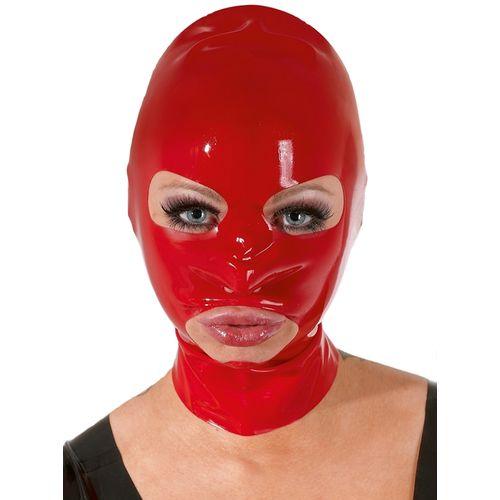 Červená latexová maska LateX