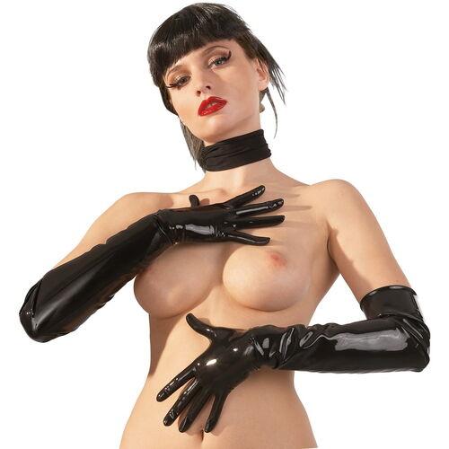 Dlouhé latexové rukavice