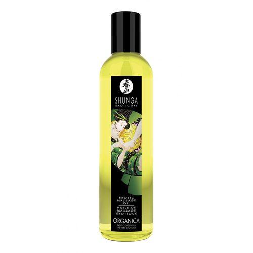 Erotický masážní BIO olej Green Tea Organica s aroma zeleného čaje (250 ml)
