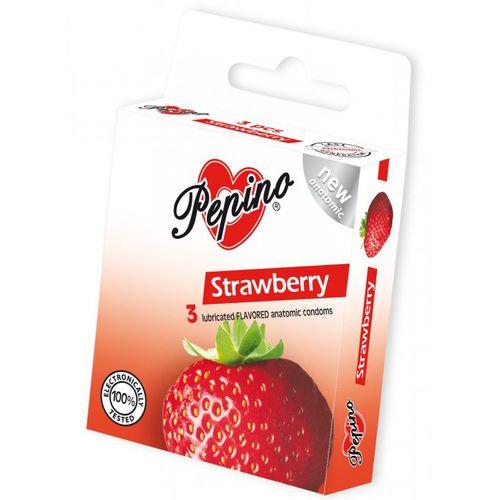 Kondomy PEPINO Strawberry s jahodovým aroma (3 kusy)