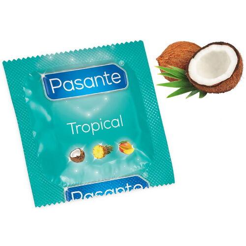 Kondom Pasante Tropical Coconut s příchutí kokosu (1 ks)