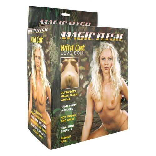 Umělá panna blondýna Wild Cat