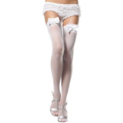 Lehce průsvitné bílé punčochy od Leg Aveneue