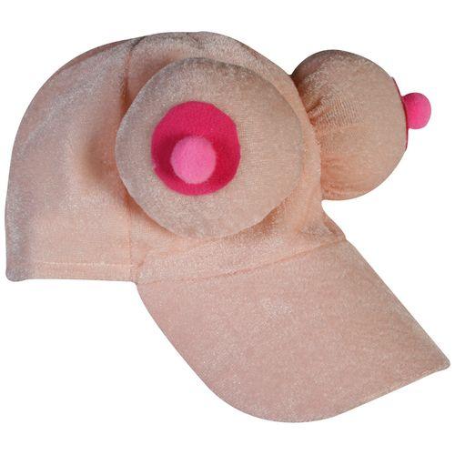 Srandovní plyšová kšiltovka s prsy