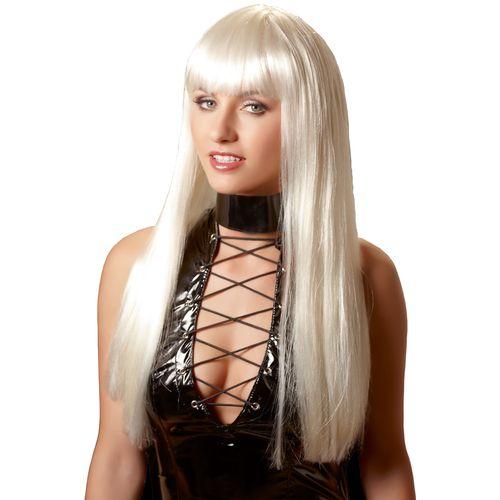 Dlouhá platinová blond paruka Christina