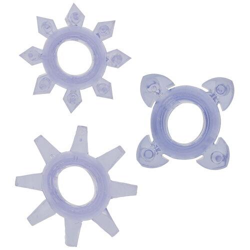 Erekční kroužky s dráždicími výstupky (3 ks)