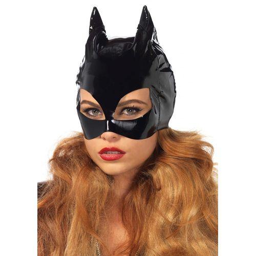 Lesklá maska s kočičíma ušima Kočičí žena