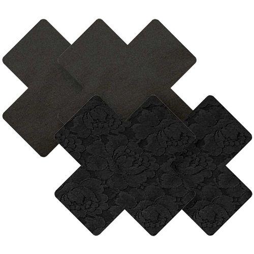 Samolepicí černé ozdoby na bradavky Black Cross
