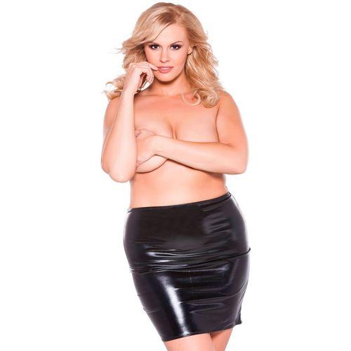 Lesklá sukně Allure Sexy Siren - nadměrrné velikosti