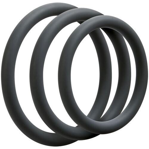 Sada tenkých erekčních kroužků OptiMALE Thin (3 ks)
