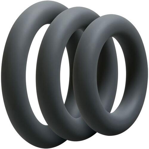 Sada tlustých erekčních kroužků OptiMALE Thick  (3ks)