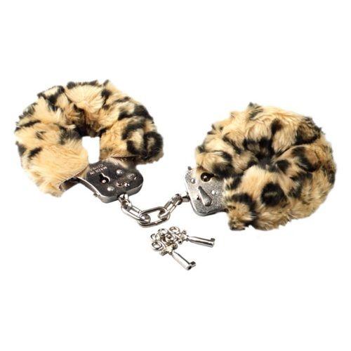 Plyšová pouta - leopardí kůže