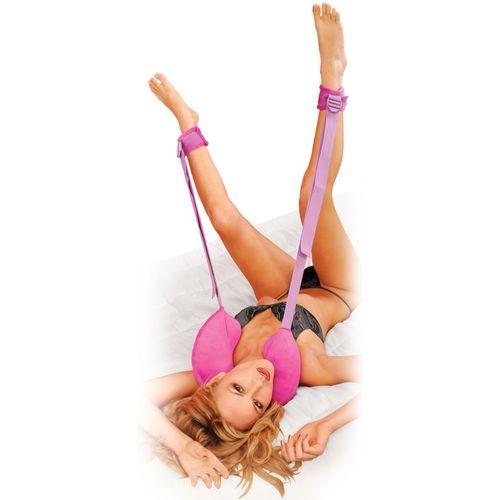 Plyšový polštářek za krk s pouty na nohy Position Master