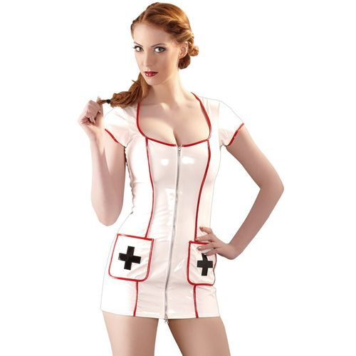 Lakovaný erotický kostým zdravotní sestřičky