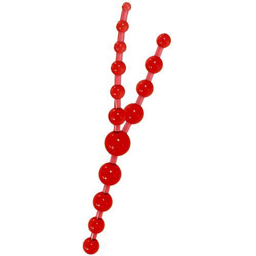 Trojité červené anální kuličky