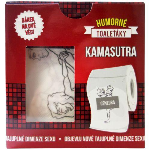 Toaletní papír s obrázky sexuálních poloh KAMASUTRA