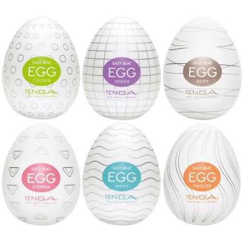 Výhodné balení pánských masturbátorů TENGA Egg  (6 ks)
