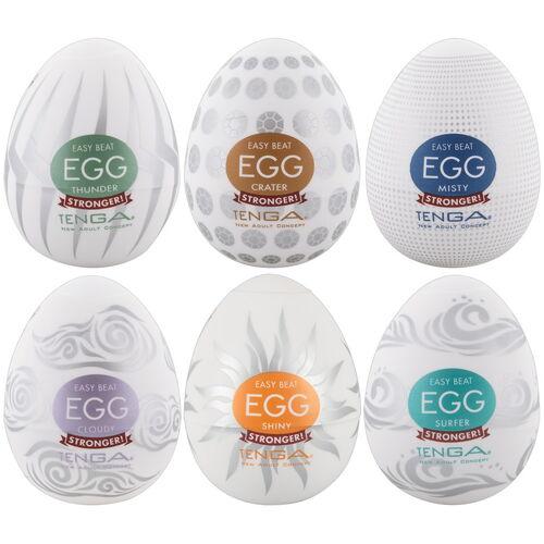 Výhodné balení masturbátorů TENGA Egg Stronger (6 ks)