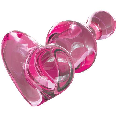 Skleněný růžový anální kolík ICICLES No. 75
