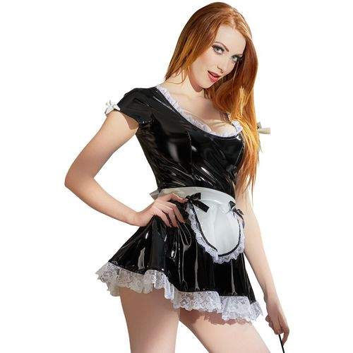 Lakovaný erotický kostýmek Servírka od Black Level