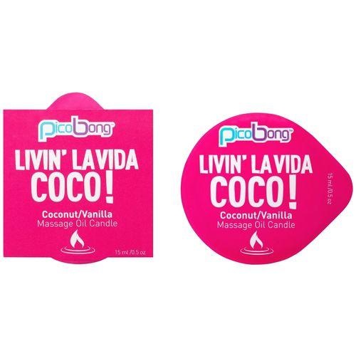 Masážní svíčka PicoBong Coconut & Vanilla (15 ml)