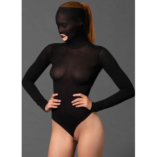 Body s maskou na hlavu a perlovým řetízkem Leg Avenue