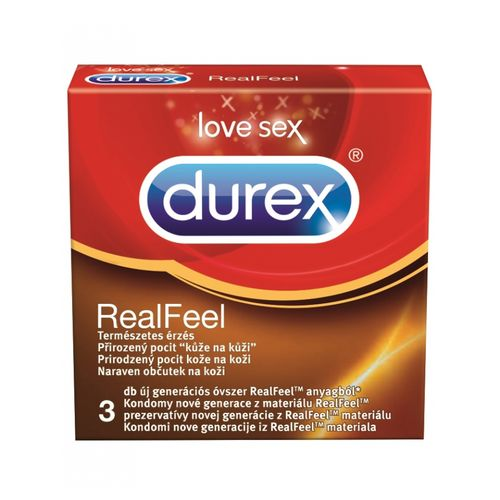 Kondomy bez latexu Durex Real Feel (3 ks)
