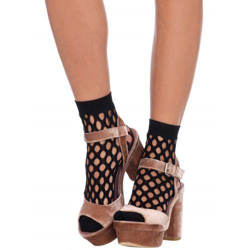 Černé sexy ponožky s velkými oky
