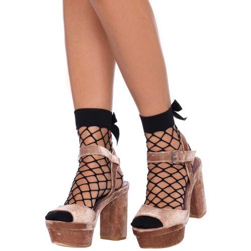 Síťované ponožky s mašličkou