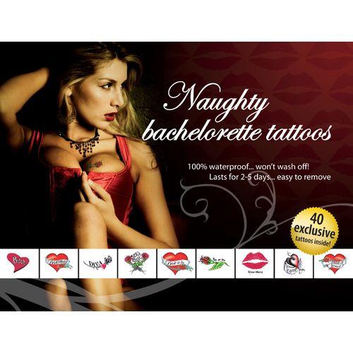 Sada dočasných erotických tetování Naughty Bachelorette