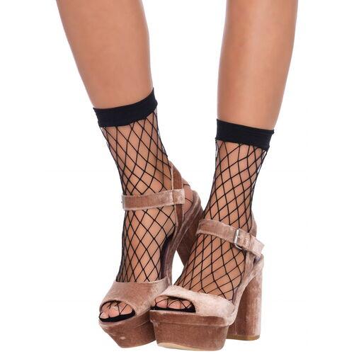 Síťované černé ponožky Leg Avenue