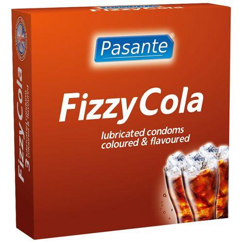 Kondomy Fizzy Cola Pasante s colovým aroma (3 ks)