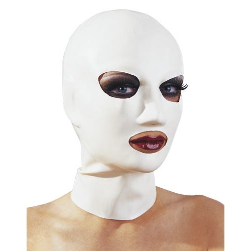 Bílá latexová maská pro ženy