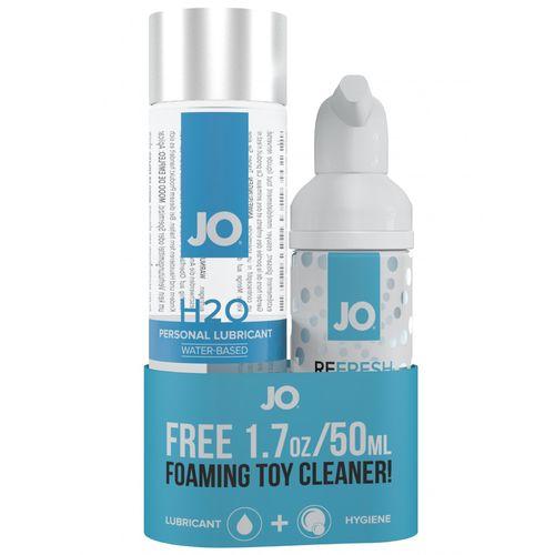 Lubrikační gel System JO H2O + čisticí pěna na erotické pomůcky ZDARMA - 120 ml + 50 ml