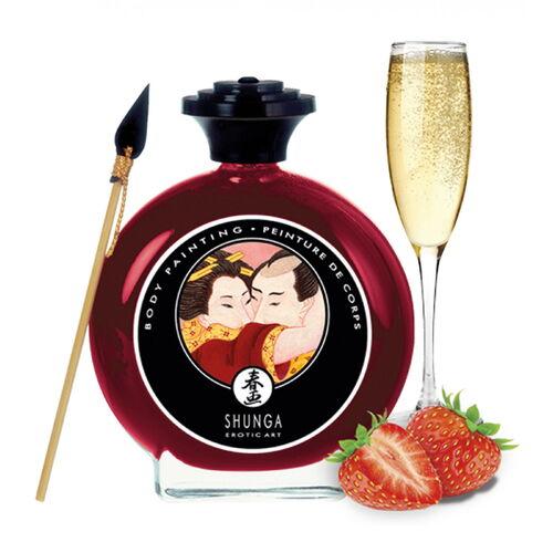 Slíbatelný bodypainting Sparkling Strawberry Wine (100 ml)