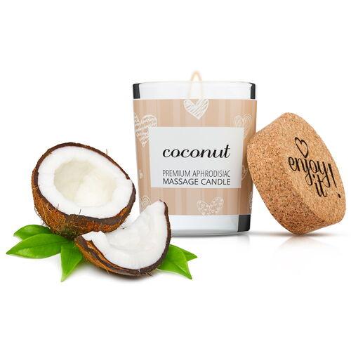 Afrodiziakální masážní svíčka MAGNETIFICO (kokosová vůně)