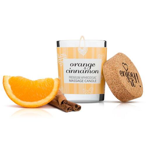Afrodiziakální masážní svíčka MAGNETIFICO (vůně pomeranče se skořicí)