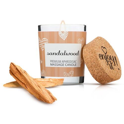 Afrodiziakální masážní svíčka MAGNETIFICO (vůně santalového dřeva)