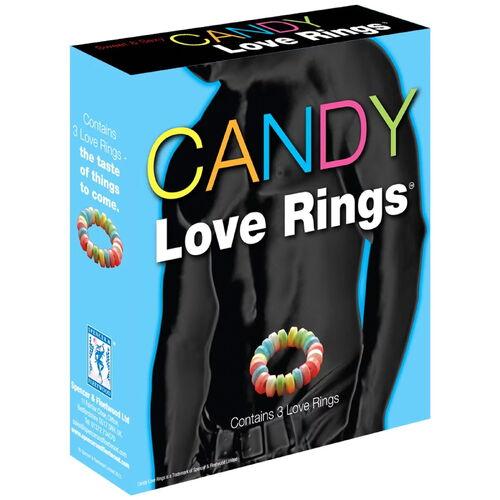 Kroužky na penis z bonbónů Candy Love Rings (3 ks)