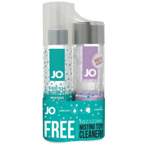 Lubrikační gel System JO Agapé + čisticí sprej Misting Fresh Scent ZDARMA