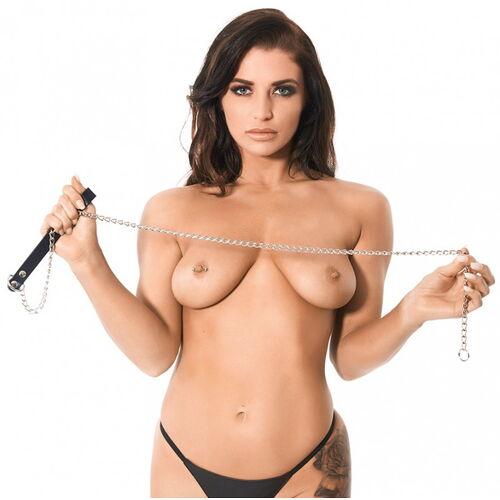 Dlouhé vodítko na BDSM hrátky Rimba (120 cm)