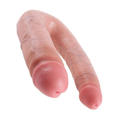 Dvojité realistické dildo Pipedream King Cock Large Double Trouble (22 cm)