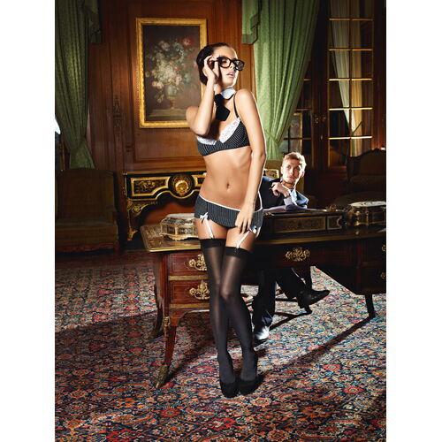 Černobílý erotický kostým Sekretářka - Baci