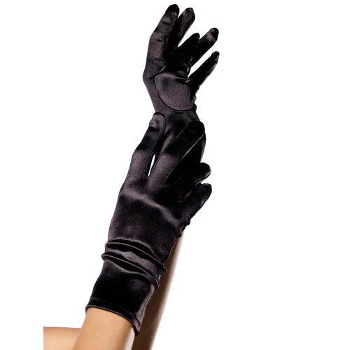 Krátké rukavice ze saténu Leg Avenue