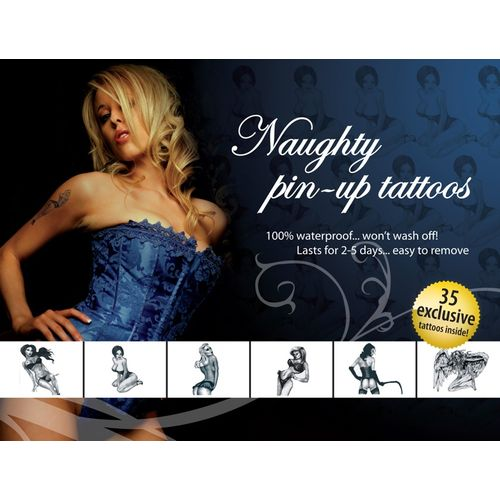 Sada tetování Naughty Pin-Up